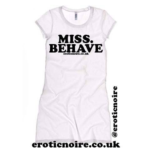 tshirt dress - wht words